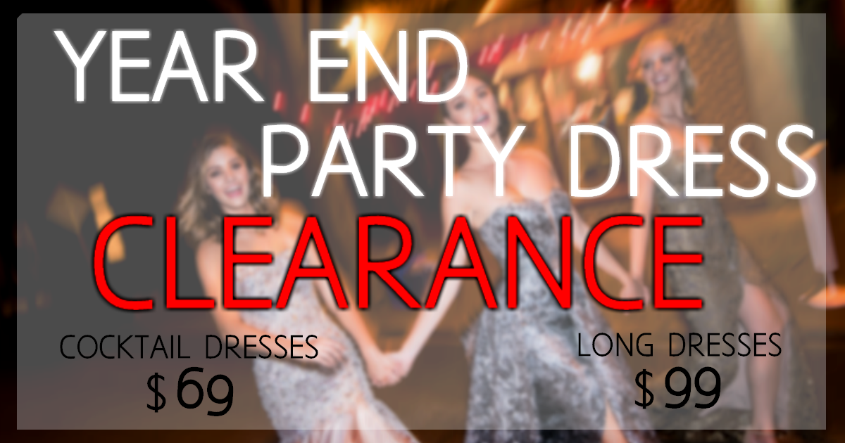 Clearance on Party dresses