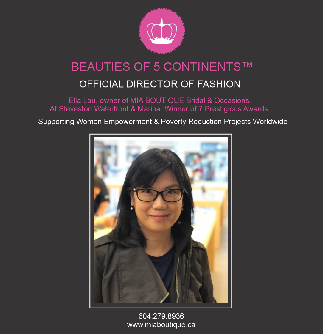 Ella Lau, Director of Fashion of BEAUTIES OF 5 CONTINENTS™